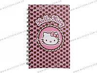 Блокнот пласт. обложка, спир., 80л., А5- Hello Kitty /1/25/50/(HK13-225K)
