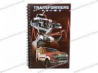 Блокнот пласт. обложка, спир., 80л., А5- Transformers /1/25/50/(TF13-225K)