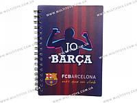 Блокнот пласт. обложка, спир., 80л., А6 Barcelona /1/50/100/(BC14-226K)