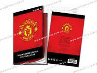 Блокнот тверд. обложка, 80л., А5- Manchester Unite /1/25/50/(MU14-227K)