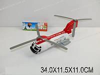 Вертолет инерц., батар., свет, музыка, в п/э 34х11х11 /48-2/(747-38C)