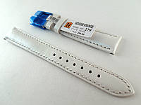 Ремешок Hightone, кожаный, анти-аллергенный, белый перламутровый, фото 1