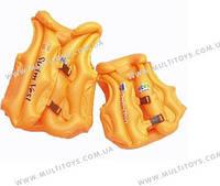 Жилет BT-IG-0006 (TS-1147-2) оранжевый средн.кул.ш.к./144/
