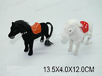 Заводная лошадь, флокированая, 2 вида, в п/э 13х4х12 /336-2/(2911)