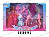 Кукла с лошадью и аксесс., в кор. 52х12х35 /12/(66601)