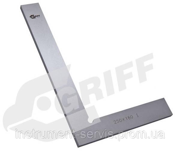 Угольник УП 100х60 поверочный слесарный плоский кл.2 (GRIFF)