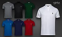 Мужская  футболка  поло Polo Ralph Lauren( логотип маленького размера белый)