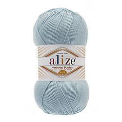 Пряжа Коттон бэби софт Cotton Baby Soft  Alize, № 335, св. бирюза