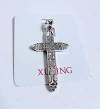 Хрестик з цирконієм в два ряди Xuping