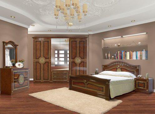Спальня комплект з ДСП/МДФ 6Д (без матрасу та каркаса) Діана Світ Меблів