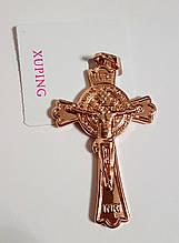 Хрест двосторонній позолочений Xuping