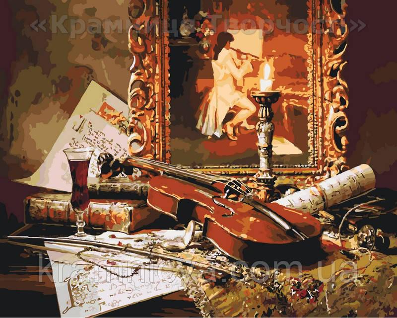 Раскраска по номерам Волшебная музыка скрипки, 40х50см ...
