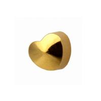 R 502 Y сердце золото(средний размер 3 мм) STUDEX