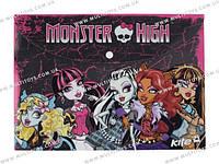 Папка на кнопе, А4 Monster High /12/480/960/(MH13-200K)
