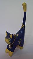 Подставка для колец Кошка деревянная высота 11 см