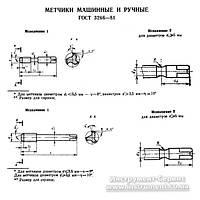 Метчик м/р М 5 х 0,5 Р6М5 №2 (г/о) исп.1 Н3