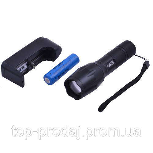 Ручной фонарик BL 1837-T6 Police, Police Тактический фонарь, Мощный фонарь, Режим SOS,Zoom, Водонепроницаемый
