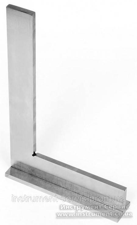 Угольник УШ 400х250 поверочный слесарный с широким осн. кл.1 (Техносталь, F147029)
