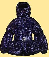 Куртка детская осенняя для девочки, фиолетовая