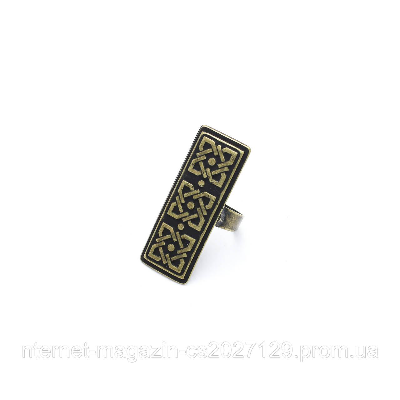 Кольцо Ника (большое, античное золото)