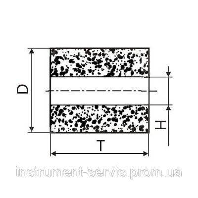 Круг алмазный плоский ПП без корпуса (форма А8) Ф 8 х 10 х 3 (2720-0183) АС4 125/100