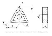 Пластина твердосплавная 02114-100608 ВК8 (уменьшенная)