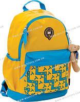 """Рюкзак подростковый X066 """"Oxford"""" жёлто-голубой, 29*19*43см(552581)"""