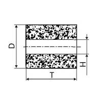 Круг алмазный плоский ПП без корпуса (форма А8) Ф 10 х 10 х 4 (2720-0185) АС4 80/63