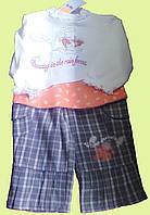 Комплект одежды для девочки: трикотажная блуза, брюки, р. 80 см