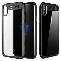 "TPU чехол Rock Clarity Series для Apple iPhone X (5.8"") Черный / Black"