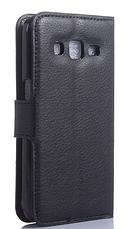 Кожаный чехол-книжка для Samsung Galaxy Core Prime SM-G360H черный, фото 2