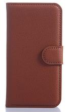 Кожаный чехол-книжка для Samsung Galaxy Core Prime SM-G360H коричневый