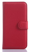 Кожаный чехол-книжка для Samsung Galaxy Core Prime SM-G360H красный