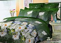 Полуторное постельное белье полиСАТИН 3D (поликоттон) 8577