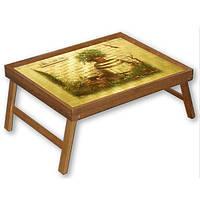 Раскладной столик для ноутбука и завтрака в кровать из бамбука