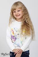 Свитшот детский для девочки трехнитка 3-6лет