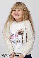 Свитшот детский для девочки трехнитка 1,5-6лет