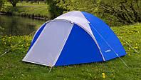Палатка туристическая Acamper Acco 4 двухслойная клеенные швы Синяя, фото 1