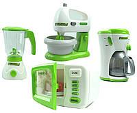 Детская бытовая теника микер, блендер, микроволновая печь, кофеварка