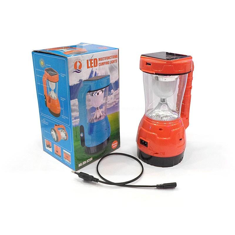 7fbf47d9c739 Кемпинговый LED Фонарь-лампа Sihang SH 3280 с Солнечной батареей