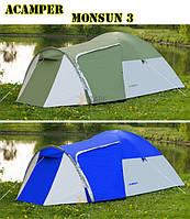 Палатка туристическая новая Acamper Monsun 3 Зеленая , фото 1