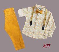 Нарядный костюм для мальчика с бабочкой и подтяжками Турция р. 5, 8