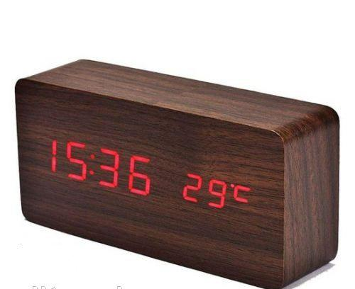 Годинники дерево VST 862 підсвічування Wooden Red