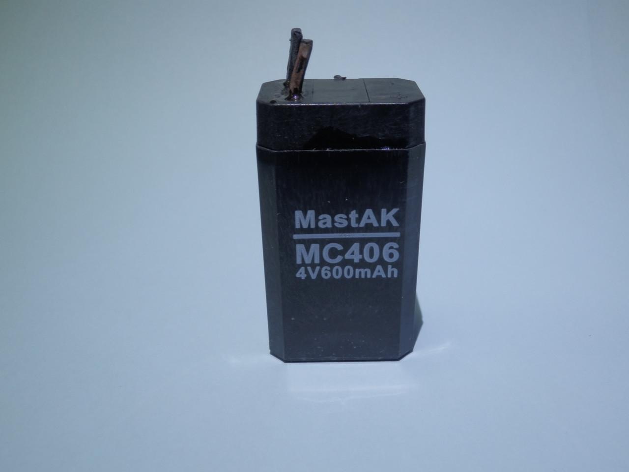 Аккумулятор  MastAK MС406 (4V 0,6Ah)