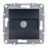 Розетка TV проходная 4 dB алюминий Asfora Plus EPH3200271