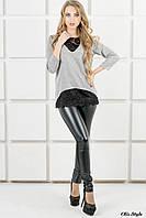 Красивый женский свитшот Сибела серый (44-52)