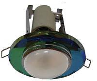 Светильник точечный под лампу R50 RG004 E14 CH+MIX (микс. стекло)