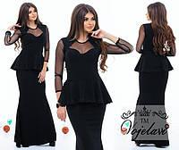 Оригинальное платье с баской .