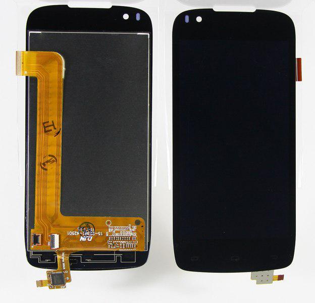 Дисплей модуль Fly IQ4405 #G4530020067LA/G4530020061LA/15-22391-42501/28-11045-00021-YHA013 в зборі з тачскріном чорний