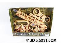 Военный набор (оружие на батар., маска, наручники) в кор. 42х5х31 /36/(BN369M5)
